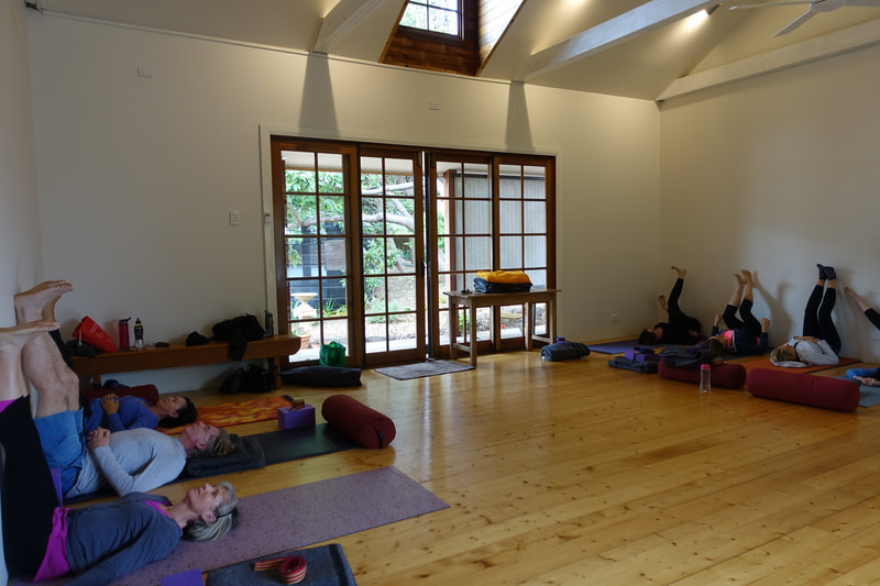 Yoga retreat space in the Blue Mountains for teachers and their students.